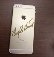 iPhone autographed